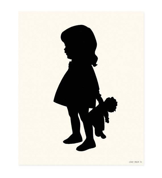 Paper Cut Silhouette Scherenschnitte Custom Silhouette Art Children Printable and Hand Cut