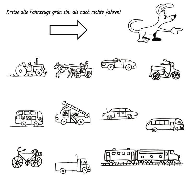 Welke vervoersmiddelen gaan naar rechts? / rechtslinks-einkreisen