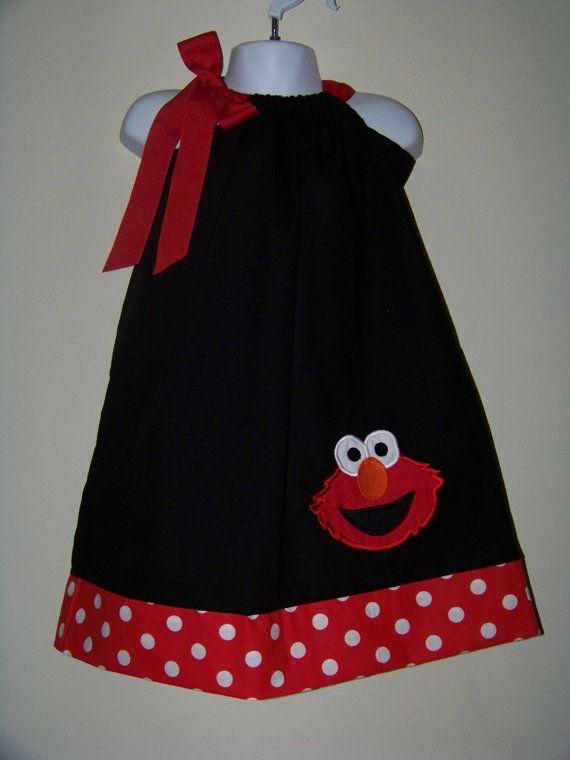 Elmo Pillowcase Dress Sesame Street Character Big