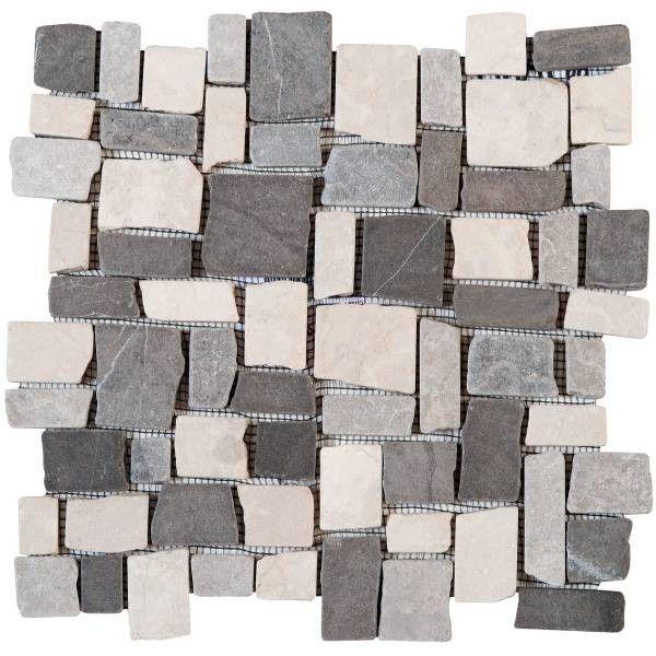 Palladiane Cubic Mix Blanc Light Gris Dark Gris 30x30 Stone Tiles Marble Stones Stone Mosaic