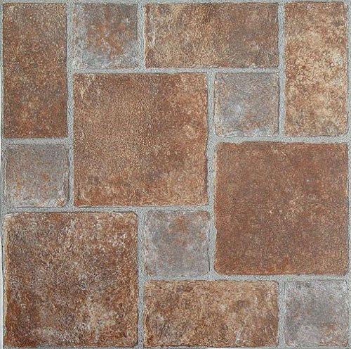Brick Pavers Stone Self Stick Adhesive Vinyl Floor Tiles 100 Pcs 12 X 12 Brick Pavers Vinyl Flooring Luxury Vinyl Tile