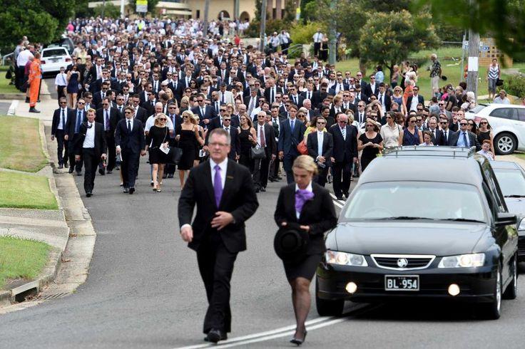 Phillip Hughes' funeral - AAP/Dan Himbrechts