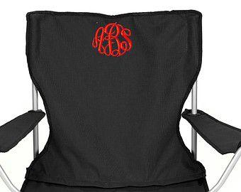 Monogrammed Folding Chair Beach Chair Lawn Chair Bag Chair