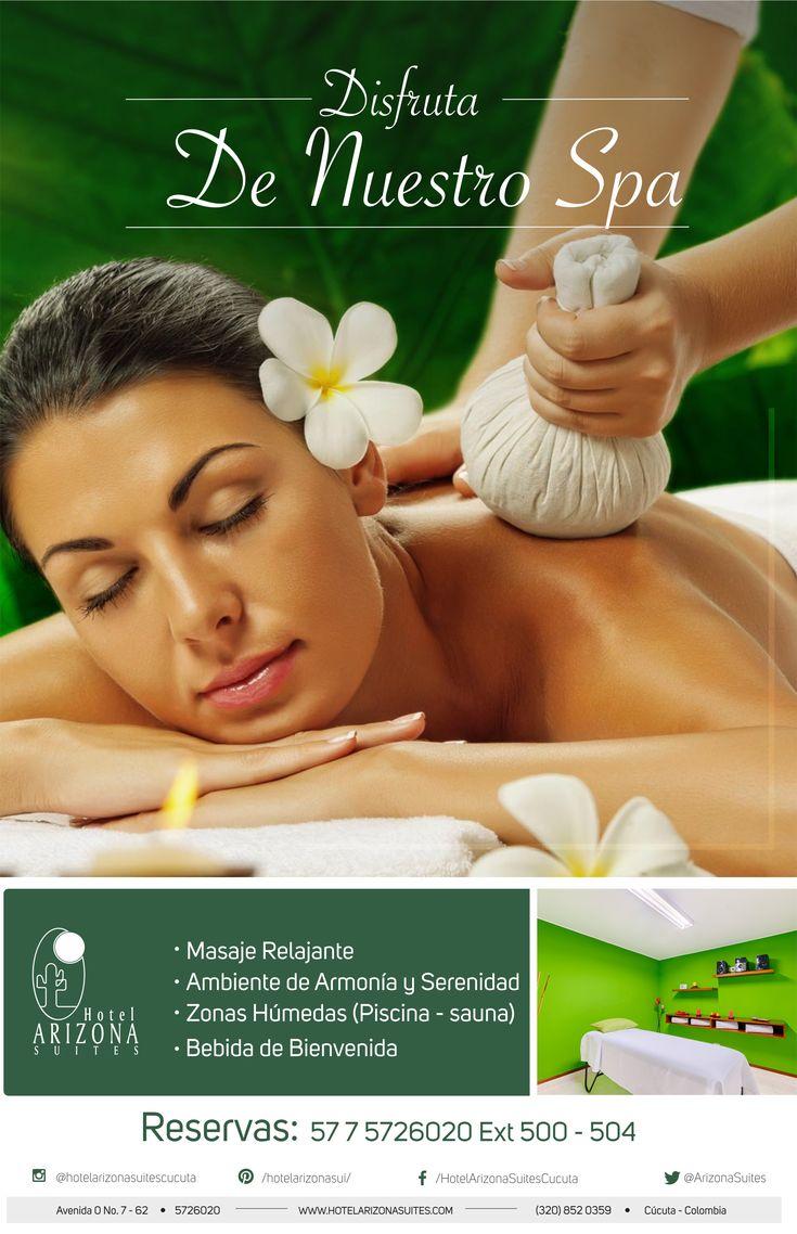 Cambie de rutina y dese un descanso, disfrute en el Hotel Arizona Suites de un delicioso masaje relajante. Comuníquese al 57 7 5726020 Ext 500 #Relax #TardedeSpa #Masajerelajante #Cucuta #Colombia