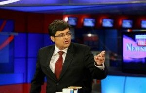 The very belligerent Arnab Goswami :-D