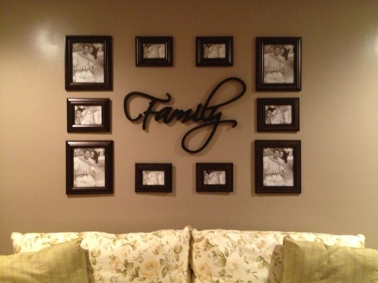 Picture Frame Wall Arrangements - Home Design