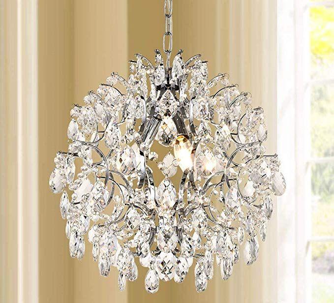 Bestier Modern Pendant Chandelier Crystal Raindrop Lighting