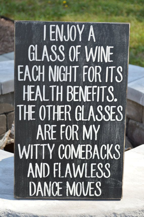 """Funny wine sign.  11.25"""" x 18"""" Great kitchen sign.  Wine Lovers will love this sign. Can do custom signs--any color, any saying, any size! on Etsy, $50.00"""