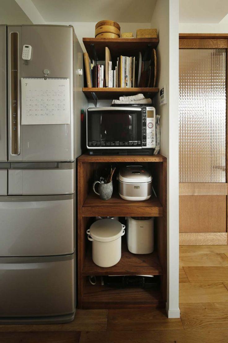キッチン:キッチンボード 家電 隠す キッチン 収納 カウンター レンジ台 おすすめ ニトリ キッチンワゴン 人気の家電 収納 ラック