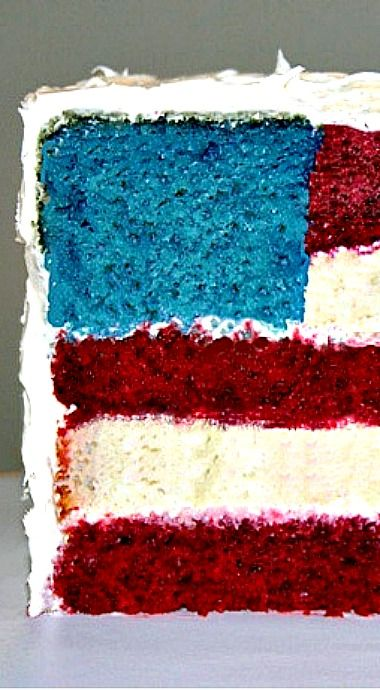 American Flag Wedding Cake