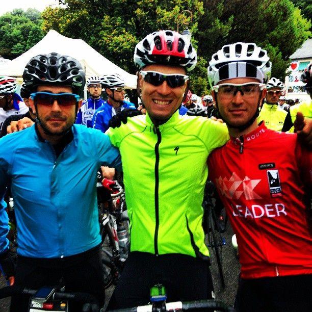 Christopher Zappala, David Polveroni and @Racheal Lynn Nicolas are ambassador #Strava We finisher #hauteroute Pyrenees and leader ! #KOM