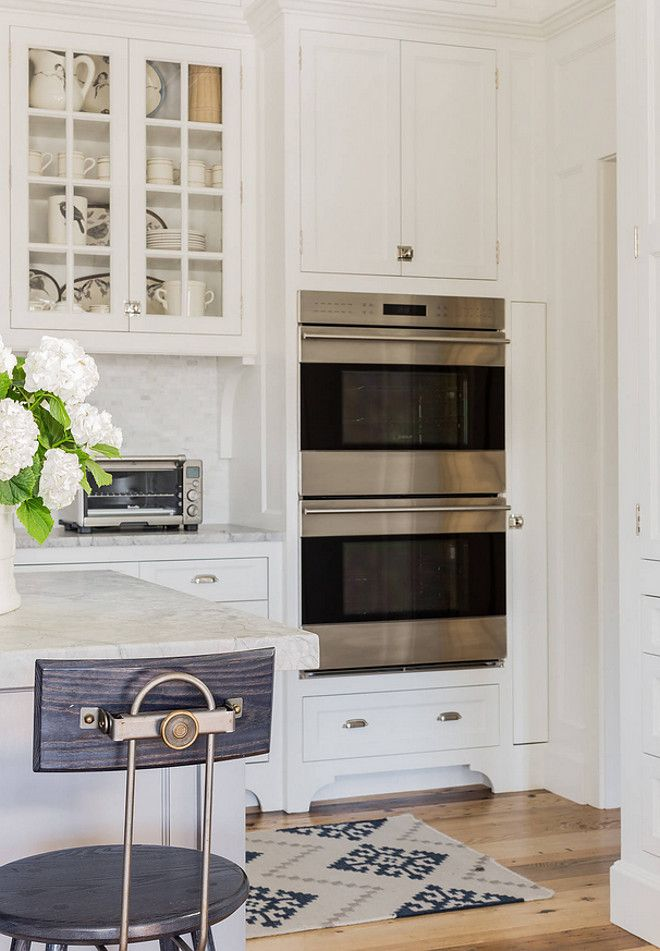 Oven Cabinet Ideas-Kitchen Oven Cabinet Ideas- To the right of the sink area and island are the electric double wall ovens with convection. The drawer below holds cookie sheets and baking dishes, while the cabinet above offers storage for tall pots Oven C