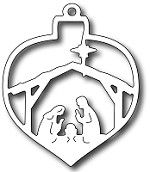 *Pre-Order*  Frantic Stamper Precision Die - Nativity Christmas Bauble