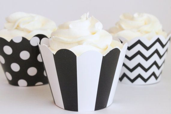 Hey, I found this really awesome Etsy listing at https://www.etsy.com/listing/100778352/black-and-white-cupcake-wrappers-polka