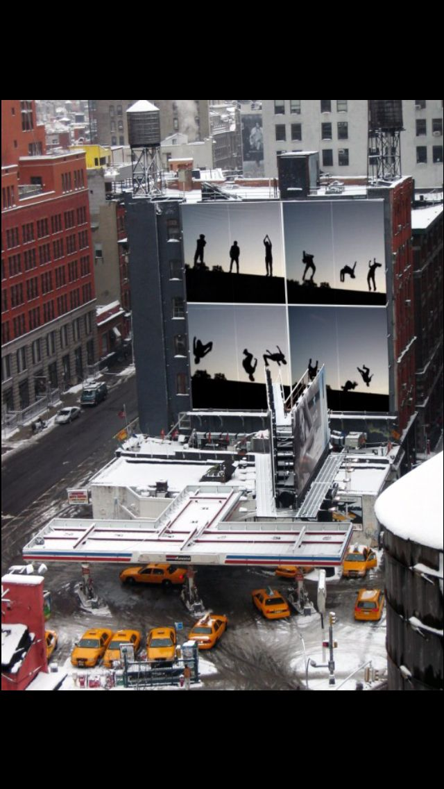 JMJ Freerunners  Billboard in New York