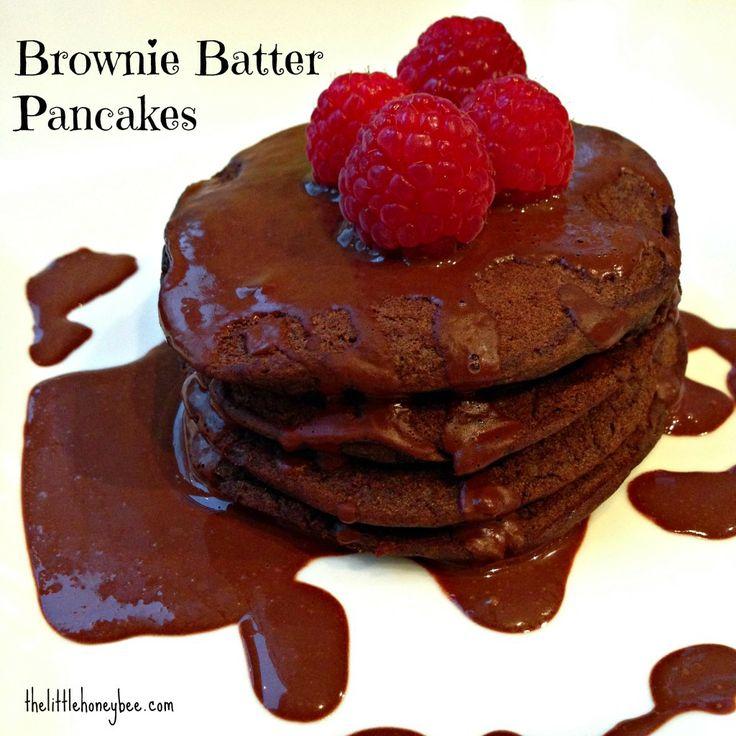 Brownie Batter Pancakes {vegan, gluten free}