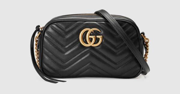 Gucci 'Marmont' small matelassé shoulder bag