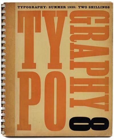 TYPOGRAPHY 8 Summer 1939 Robert Harling [Editor] with James Shand & Ellic Howe