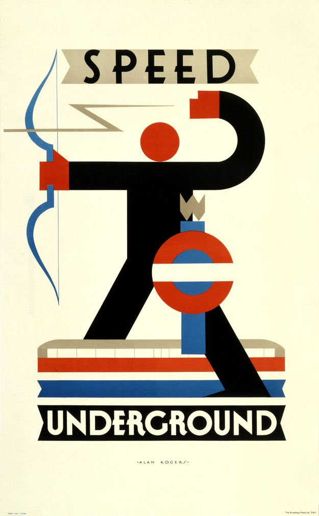 1930: 'Speed' | 20 Gorgeous Vintage Posters For The London Underground