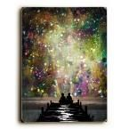 """9 in. x 12 in. """"The Universe Was Ours"""" by Jennifer Lee Solid Wood Wall Art"""