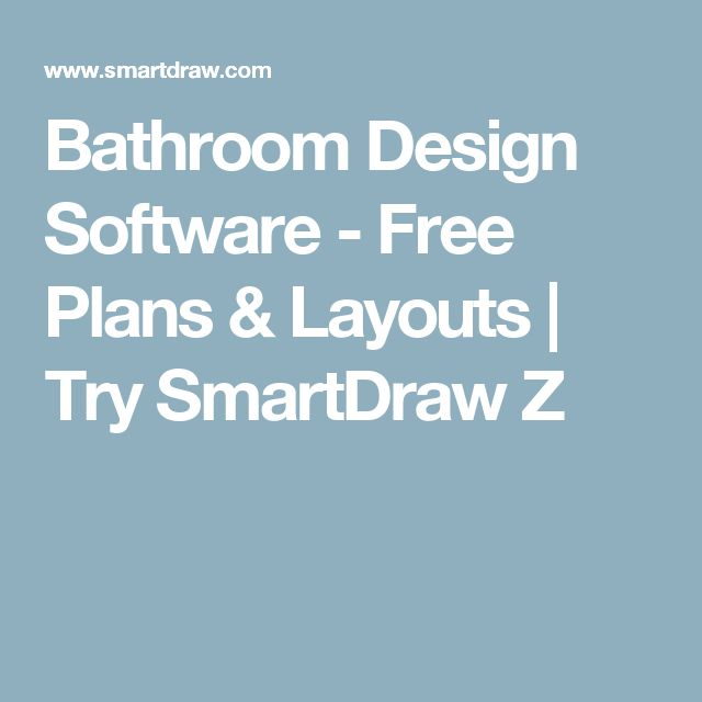 Awesome Bathroom Design Software Free Plans u Layouts Try SmartDraw Z