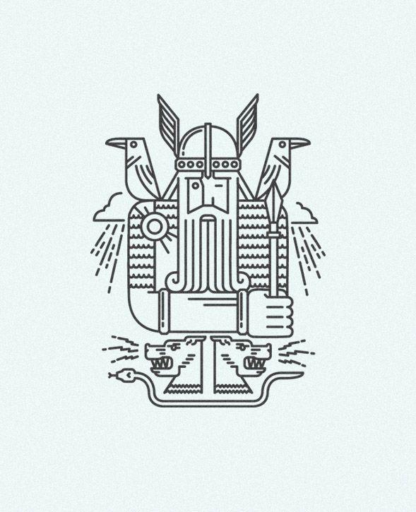 SCANDINAVIA CLUB. Illustrations
