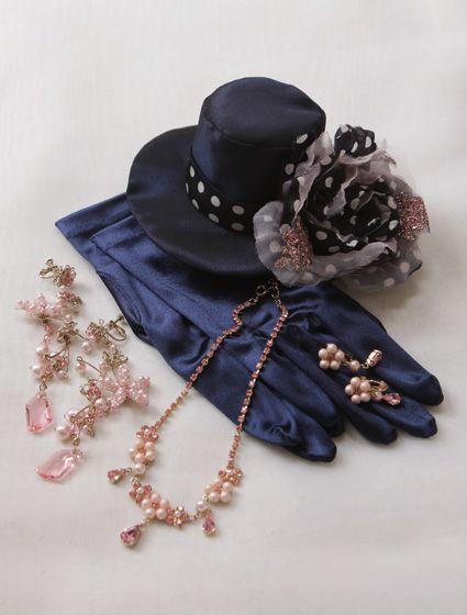 ウエディングドレス、高品質な結婚式ドレスならW by Watabe Wedding / ネイビー・ピンク・グリッター・プリンセスライン・カラードレス