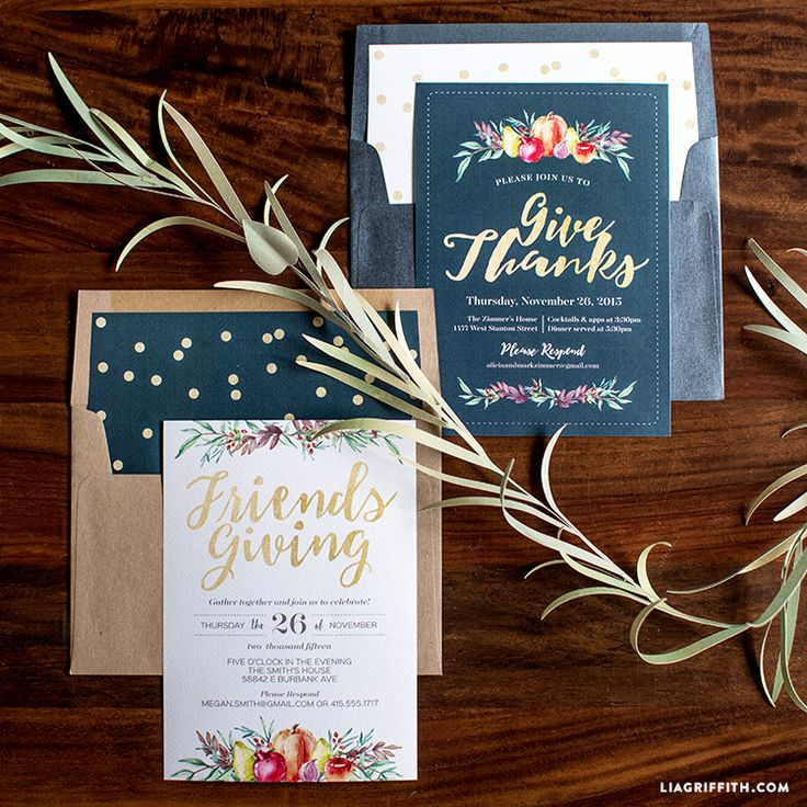 invitation letter for uk viswife%0A Print your own Thanksgiving invitation in warm tones of persimmon  sage  green  purples and