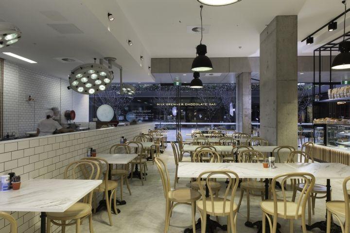 Дизайнерский интерьер кафе-кондитерской Autolyse Bakery в Сиднее