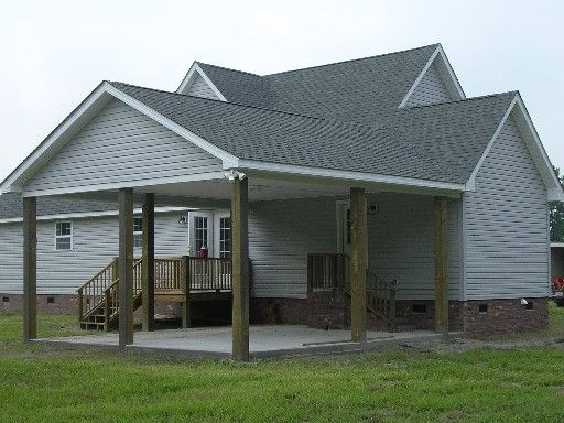Carport designs garages carports porches decks custom for Attached carport plans free