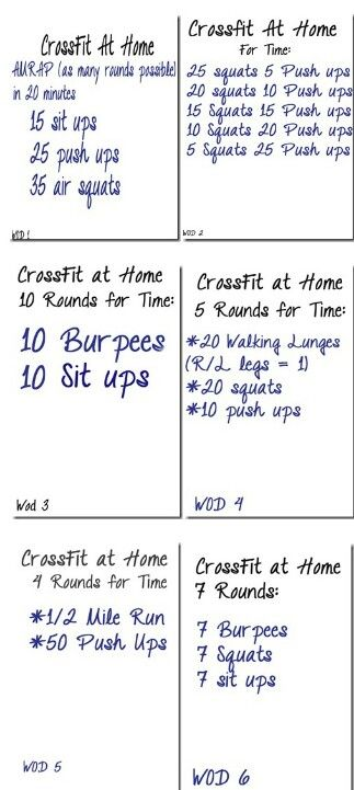 Crossfit. Travel WODs