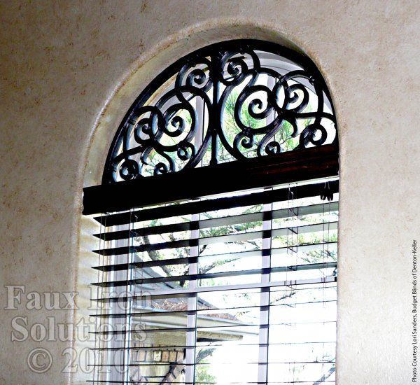 Wrought Iron Window Treatment - Faux Iron Arched Window Decor