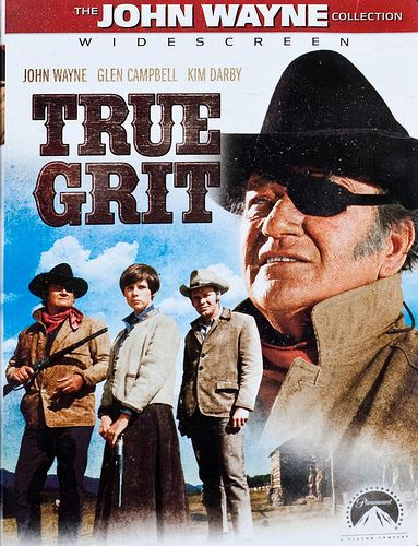 True Grit is a 1969 American western film written by Marguerite Roberts and directed by Henry Hathaway. The picture is the first adaptation of Charles Portis' 1968 novel True Grit. John Wayne stars as U.S. Marshal Rooster Cogburn and won his only Academy Award for his performance in this film. Wayne reprised his role as Cogburn in the 1975 sequel Rooster Cogburn. Historians believe Rooster was based on deputy U.S. marshal Heck Thomas, who brought in some of the toughest outlaws.