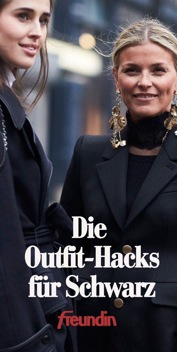 Outfit-Hacks für Frauen, die am liebsten Schwarz tragen