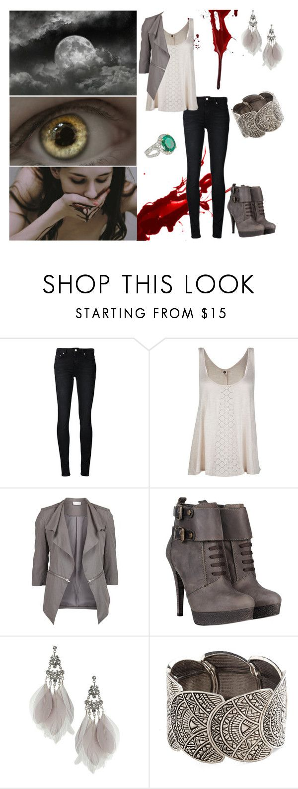 """""""the effect of the full moon"""" by kerstinxx ❤ liked on Polyvore featuring BLK DNM, Ten-Sixty Sherman, VILA, Miss Sixty and Miss Selfridge"""