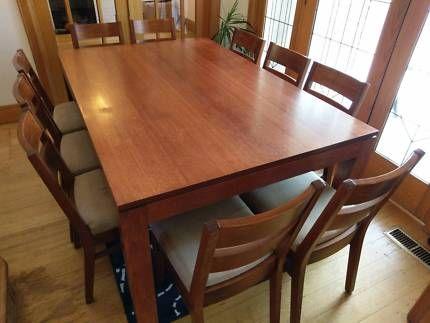 Dining Table and 10 Chair Set - Solid Tasmanian Oak   Dining Tables   Gumtree Australia Boroondara Area - Hawthorn East   1129539735