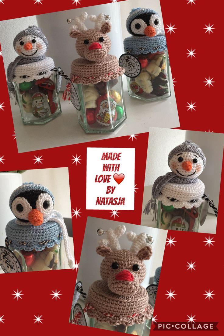Kerst snoeppotjes #gemaakt voor 3 kleine vriendjes 💙💙💙