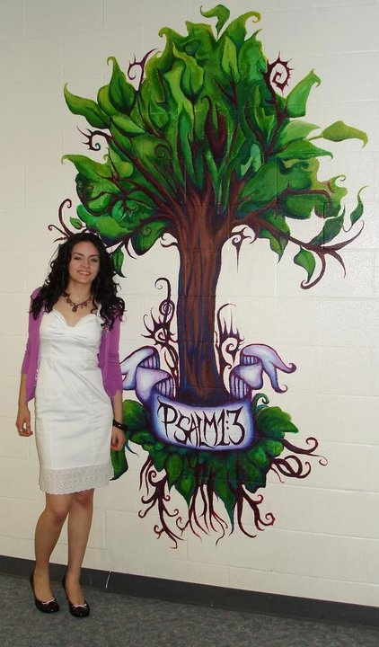 2008 high school mural I designed and painted. https://www.facebook.com/LindseyMartonArt