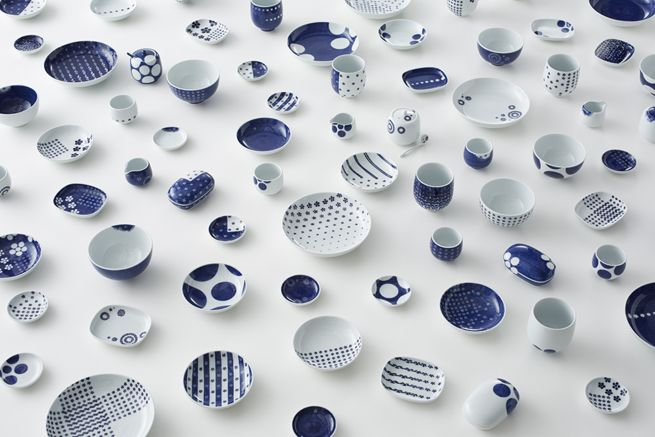 ume-play_collection / 「梅小紋」を再編集した食器 for 源右衛門窯 by   n meister