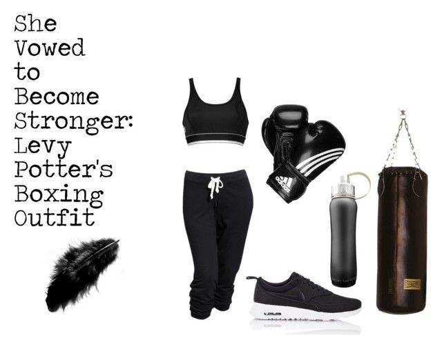 """""""She Vowed to Become Stronger: Levy Potter's Boxing Outfit"""" by karmasucks on Polyvore featuring Old Navy, DKNY, NIKE, adidas and ZENTS"""
