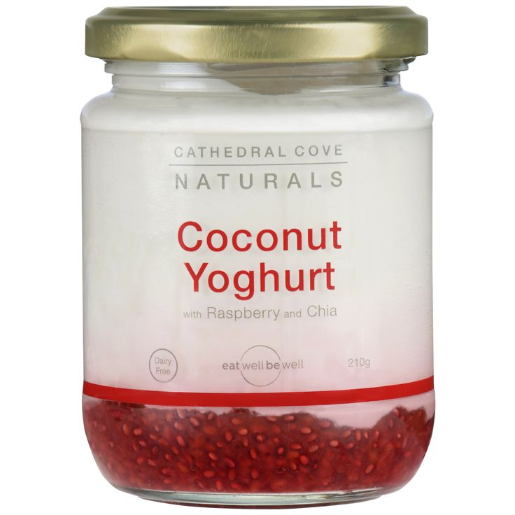 Coconut Yoghurt with Raspberry and Chia