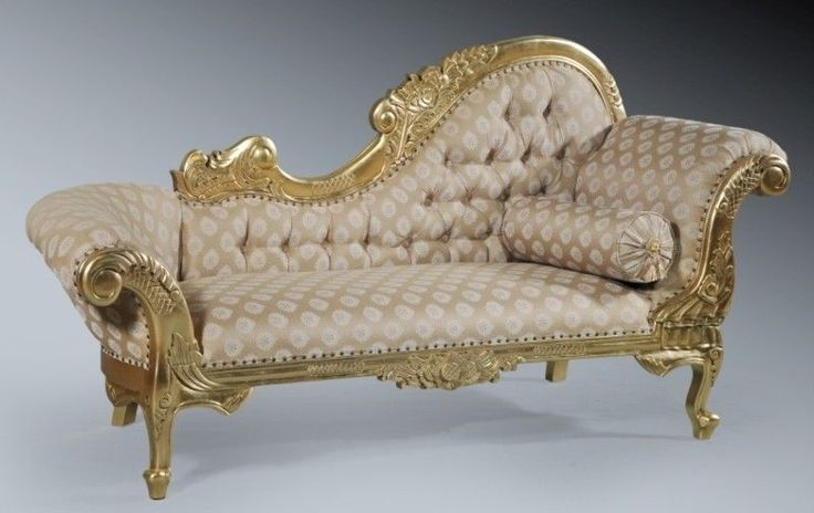 Mahogany rococo gilt gold leaf period french ornate chaise for French rococo period