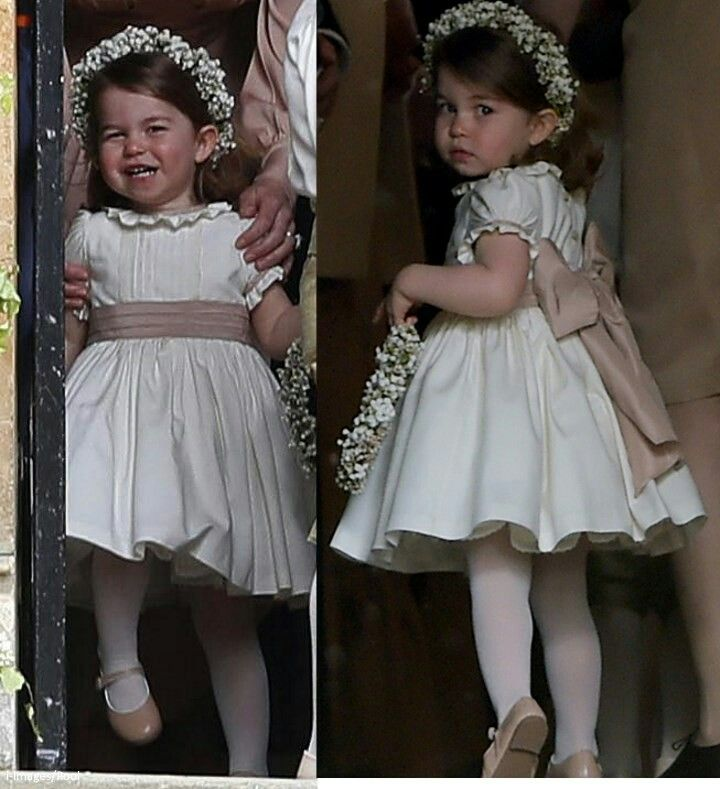 Princess Charlotte at the marriage of her Aunt Pippa Middleton and James Matthews. May 20 2017.