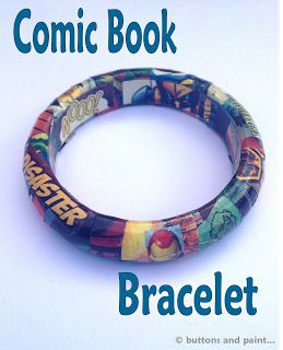 buttons and paint...: ... and a Comic Book Bracelet