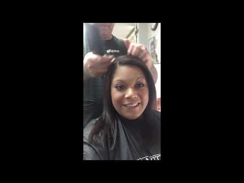 Japanese Hair Straightening Root Touch up - YouTube