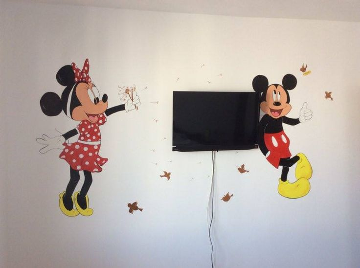 Mickey U0026 Minnie Mouse Wall Painting #mickeymouse #minniemouse #wallpainting  #kids Part 81