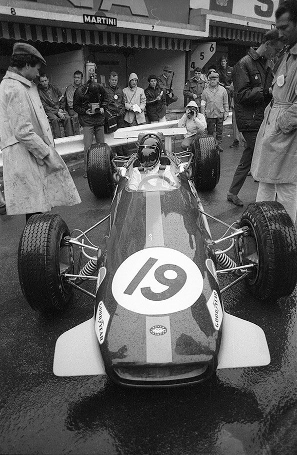 Karl Jochen Rindt (AUT) (Brabham Racing Organisation), Brabham BT26 - Repco 740 3.0 V8 (RET)  1968 Belgian Grand Prix, Circuit de Spa-Fran...