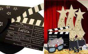 Tarjetas de invitación para 15 años estilo Hollywood