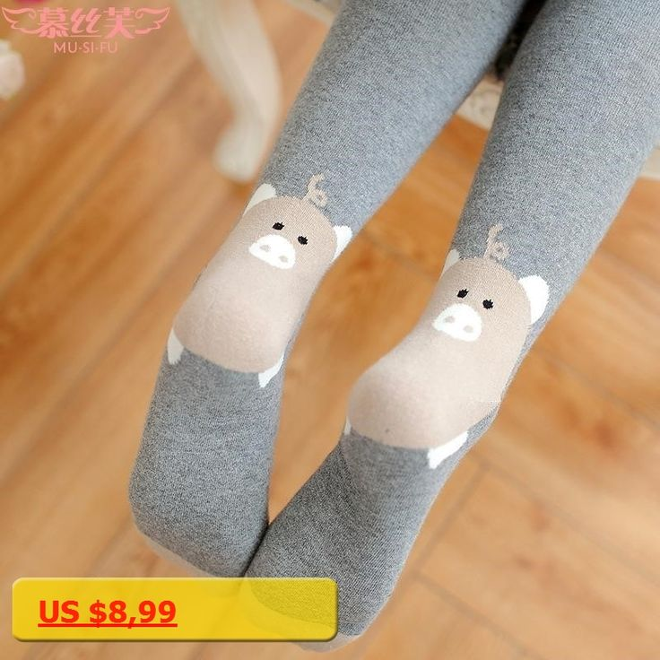 W208 2017 new winter warm ladies tights and wholesale cotton jacquard pantyhose heel pig cartoon tights free ship