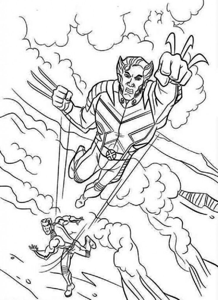Printable X Men Coloring Pages Comic Book Coloring Pages